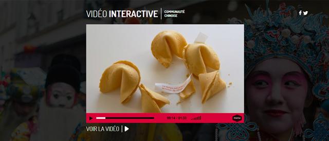 Image vidéo interactive